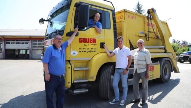 Die Chefs: Adolf Gojer jun., Sohn Ludwig, Prokurist Oskar Preinig und Firmengründer Adolf sen. (v.l) (Bild: Evelyn Hronek)