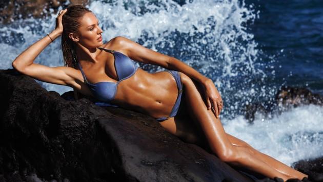 Candice Swanepoel zeigt die schönsten Modelle von Victoria's Secret. (Bild: Victoria's Secret)