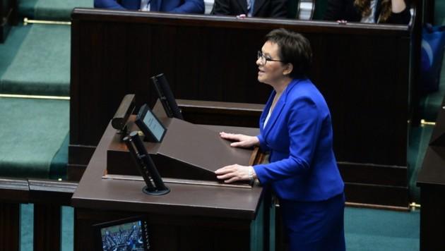 Polens Regierungschefin Ewa Kopacz (Bild: APA/EPA/JACEK TURCZYK)