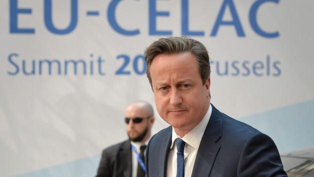 Premierminister Cameron verteidigte wortgewaltig das Selbstbestimmungsrecht der Falklandinseln. (Bild: APA/EPA/STEPHANIE LECOCQ)