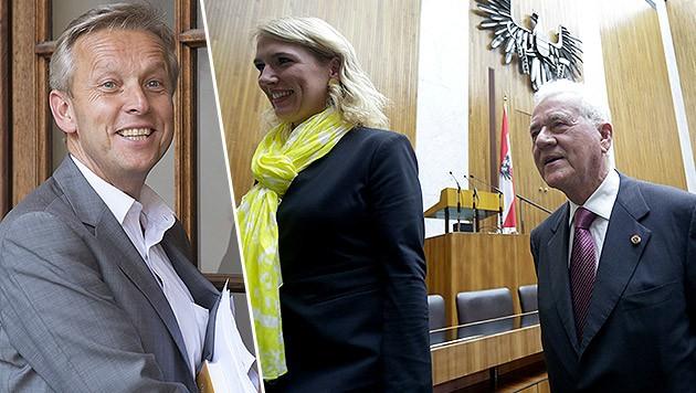 """ÖVP-Klubchef Lopatka (li.): Wechsel von Nachbaur und Co. """"reine Fantasie"""". (Bild: APA/GEORG HOCHMUTH, APA/ERWIN SCHERIAU)"""
