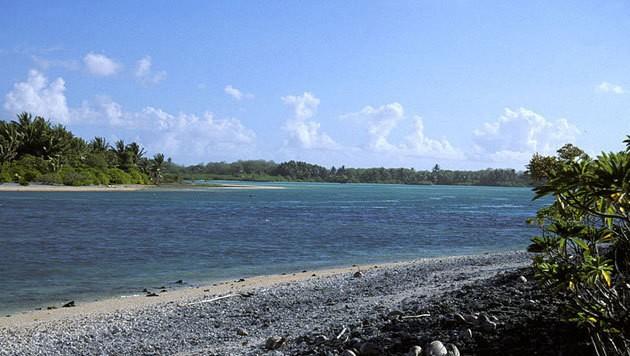 Eine Lagune im kleinen Atoll Nikumaroro