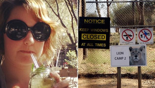 Chappell auf ihrem letzten Urlaubsfoto in Johannesburg kurz vor der tödlichen Löwen-Attacke (Bild: Instagram, AP)