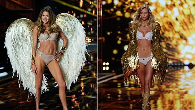 Doutzen Kroes und Karlie Kloss steigen bei Victoria's Secret aus. (Bild: APA/EPA/FACUNDO ARRIZABALAGA)
