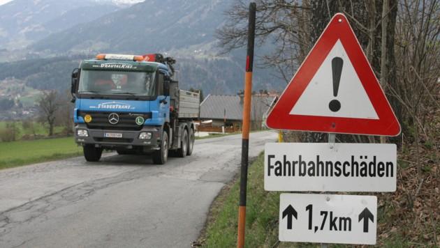 Kärntner Straßen zerbröseln rasant! (Bild: KLAUS KREUZER)