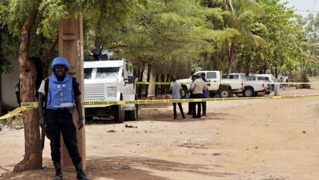 Bei dem Angriff auf einen UN-Stützpunkt wurde ein Soldat getötet und ein weiterer verletzt. (Bild: AFP)