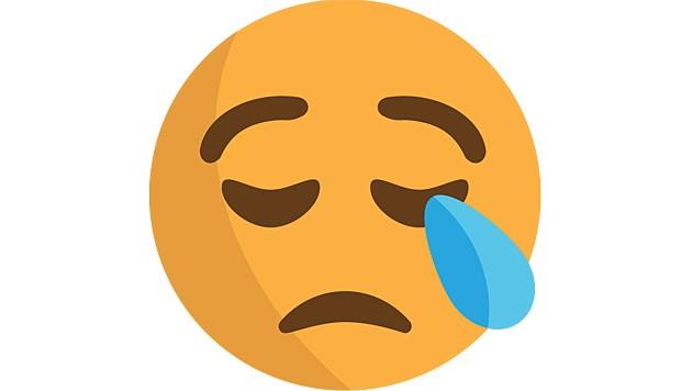 Dieses Emoji weint weder noch trauert es, sondern schläft einfach nur. (Bild: Wikimedia)