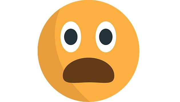 Dieses Emoji ist weder überrascht noch schockiert. Es steht stattdessen für Missbilligung. (Bild: Wikimedia)