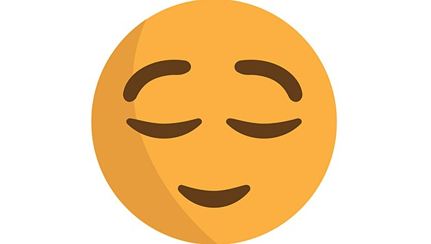 Dieses Emoji schläft nicht, wie von vielen angenommen, sondern ist erleichtert. (Bild: Wikimedia)