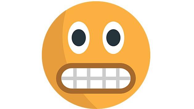 Dieses Emoji wird häufig für Wut verwendet, doch es grinst - vor Entschlossenheit oder Schmerz. (Bild: Wikimedia)