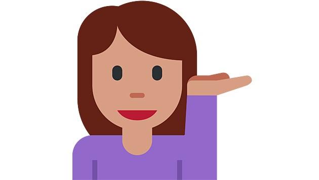 Für unbekümmert/frech wird dieses Emoji oft verwendet, doch es handelt sich um eine Auskunftsdame. (Bild: Wikimedia)