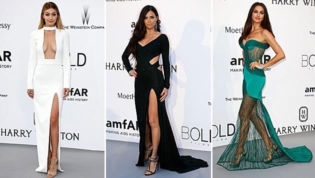Gigi Hadid, Adriana Lima und Irina Shayk waren besonders sexy! (Bild: APA/EPA/IAN LANGSTON)