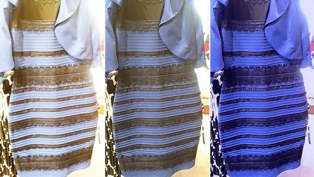 Schwarz blaues oder weib goldenes kleid