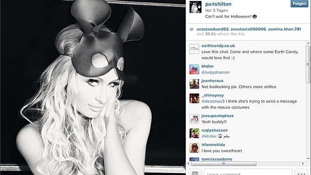 Paris Hilton mit Mäuseohren