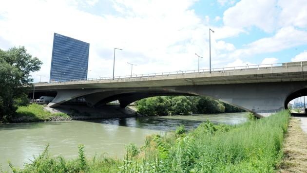 Bei Arbeiten unter der Erdberger Brücke kam es zu dem Unfall. (Bild: APA/HERBERT PFARRHOFER)