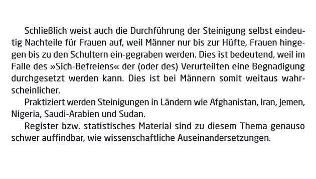 """Diese Passage sorgte im Ministerbericht """"Tradition und Gewalt an Frauen"""" für Aufregung."""