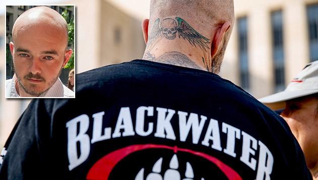 Der Ex-Security Nicholas Slatten (kl. Bild) wurde zu einer lebenslangen Haftstrafe verurteilt. (Bild: AP)