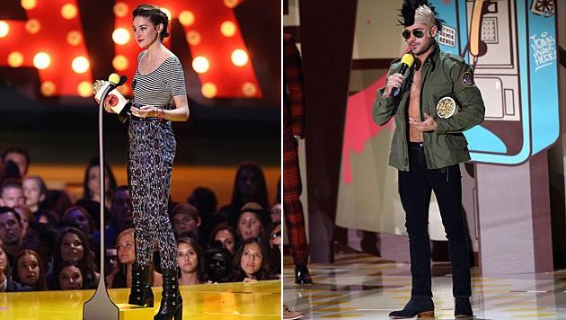 Shailene Woodley und Zac Efron durften sich über Preise freuen. (Bild: Matt Sayles/Invision/AP)
