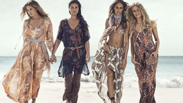 Gleich vier Topmodels hat H&M für seine Sommerkampagne gewinnen können. (Bild: H&M)