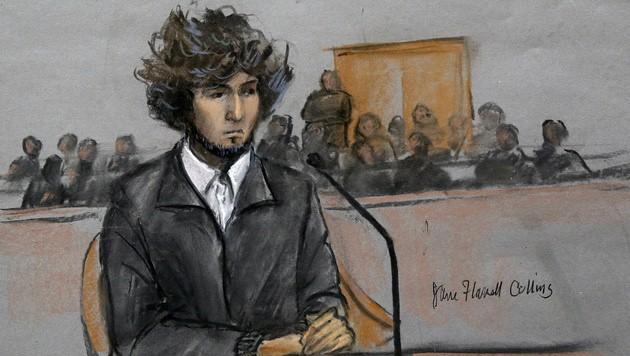 Dzhokhar Tsarnaev bei seiner letzten Anhörung