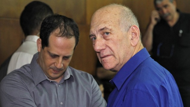 Ex-Premier Ehud Olmert vor Gericht