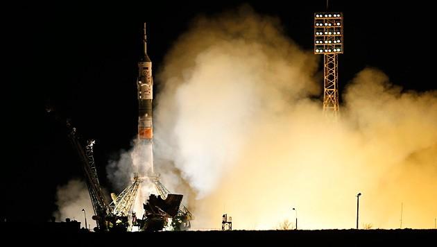 """Der Start der """"Sojus""""-Rakete in Kasachstan"""
