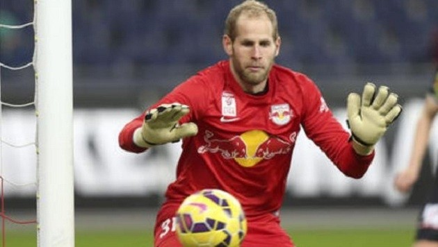 Peter Gulacsi, Torhüter von Red Bull Salzburg, stand bereits fünf Jahre in Liverpool unter Vertrag. (Bild: Andreas Tröster)