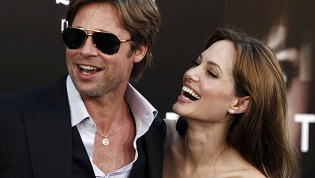 Brad Pitt und Angelina Jolie bei einer Filmpremiere im Jahr 2010.