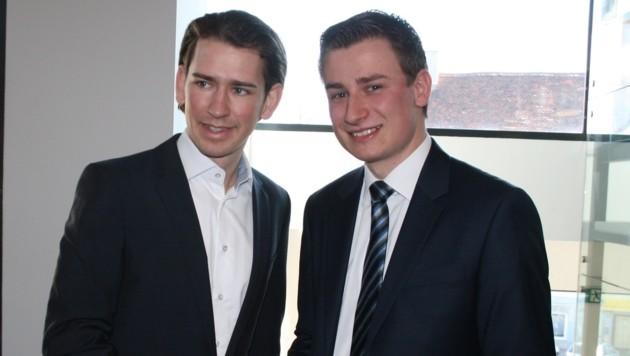 Ein politisches Vorbild des Fohnsdorfers Volkart Kienzl (rechts) ist Minister Sebastian Kurz.
