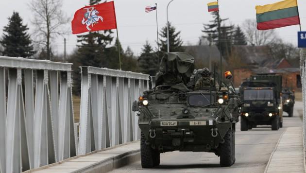 US-Einheiten auf dem Weg durch Litauen