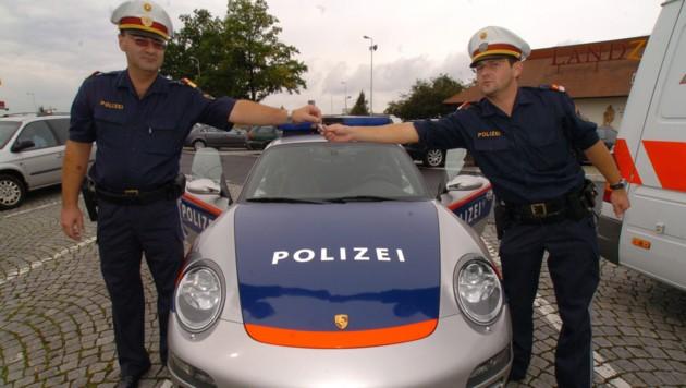 Alle hatten Spaß damit: Dieser Polizeiporsche war im Jahr 2006 monatelang im Probe-Einsatz (Bild: Markovsky)