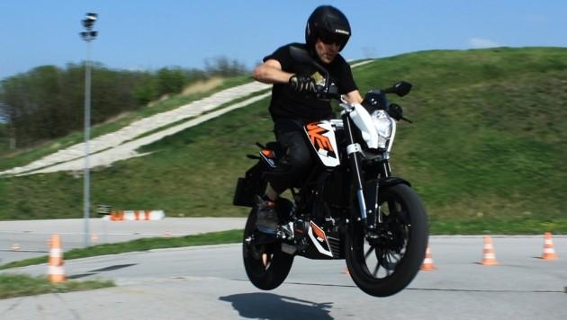 Safebike-Erfinder Karl Katoch in seinem Element