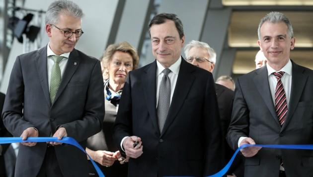 EZB-Chef Mario Draghi bei der Eröffnung der neuen Zentrale