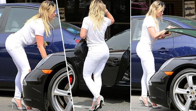Hilary Duff: Bücken, Kofferraum auf, Kofferaum zu. Wow!