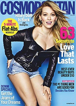 "Hilary Duff am Cover der ""Cosmopolitan"""