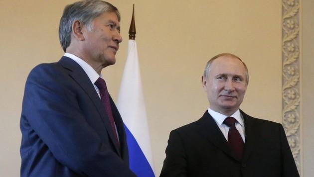 Putin traf sich in St. Petersburg mit seinem kirgisischen Amtskollegen Almasbek Atambajew.