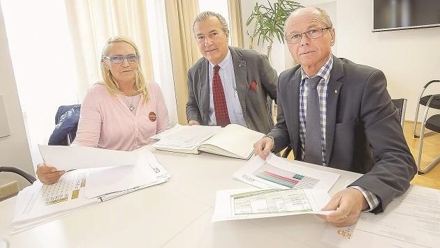 Vierhauser, Sungler und Stöckl konnten sich bei den Gesprächen am Freitag noch nicht einigen.
