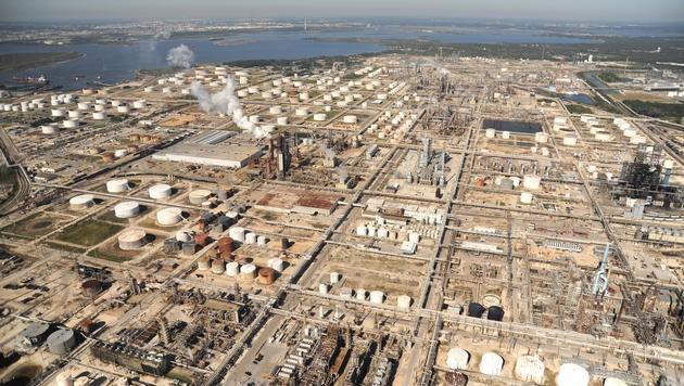 Raffinerieanlagen in Houston, Texas.