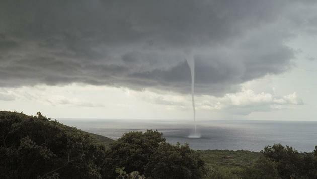 Wirbelwind in Pantelleria, Italien