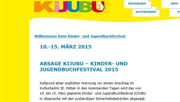 """""""Explizite Warnung"""": Das Kinder- und Jugendbuchfestival in St. Pölten wurde abgesagt."""