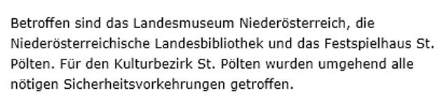 Die Kundmachung der Niederösterreichischen Museum-Betriebs-GmbH im Wortlaut