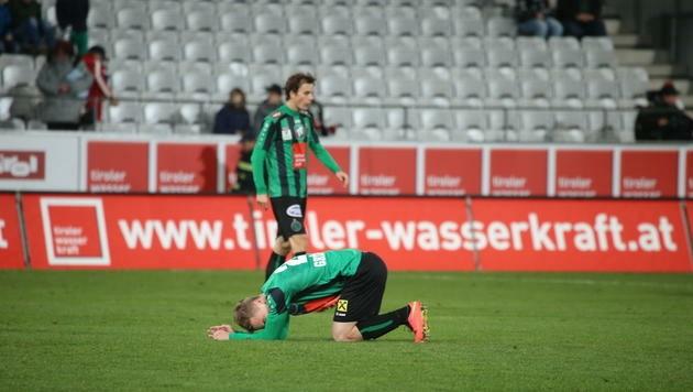 Echte Abstiegsk(r)ampf: Der FC Wacker Innsbruck ist am Boden.