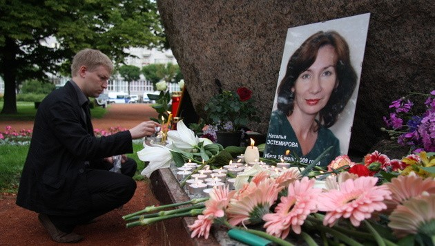 Die Menschenrechtsaktivistin Natalja Estemirowa wurde 2009 im Nordkaukasus erschossen aufgefunden.