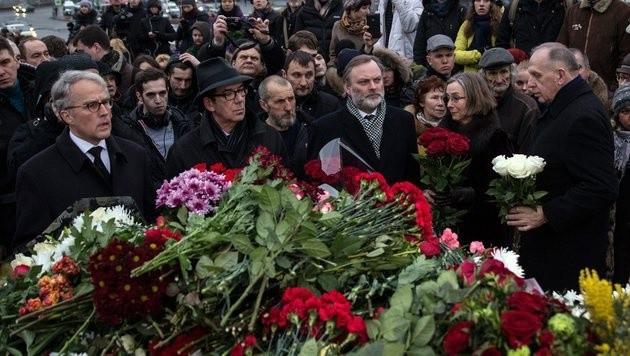 Trauer in Moskau um Boris Nemzow