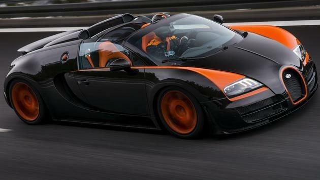 Dieser Bugatti Veyron Grand Sport Vitesse stellte 2013 den Vmax-Rekord für Serienroadster auf. (Bild: Bugatti)