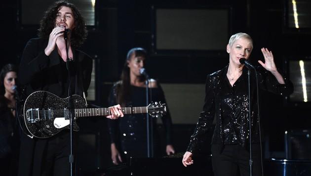 Hozier und Annie Lennox (Bild: John Shearer/Invision/AP)