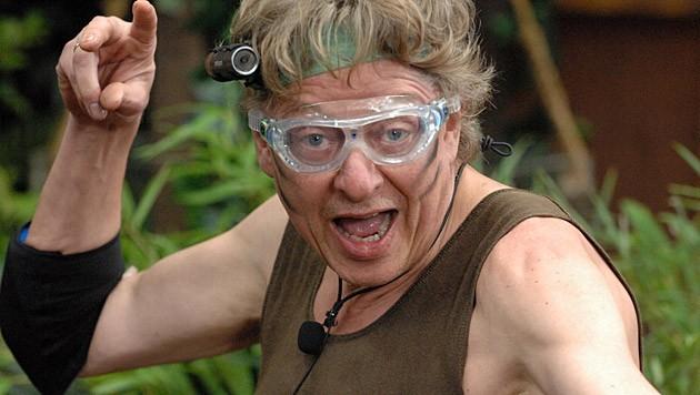 Voll motiviert startet Walter in die Dschungelprüfung. (Bild: RTL/Stefan Menne)