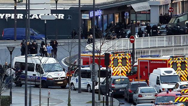 Bei einem Angriff in einem jüdischen Supermarkt wurden vier Geiseln und der Attentäter getötet. (Bild: AFP)