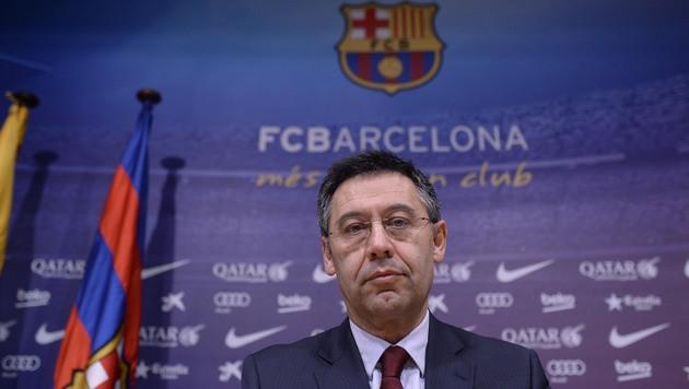 Barca-Präsident Josep Maria Bartomeu (Bild: AP)