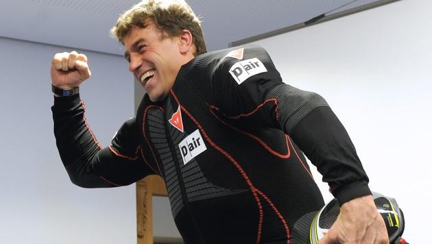 """Ex-Rennläufer Kristian Ghedina hat """"d-air"""" schon getestet. (Bild: APA/ROBERT JAEGER)"""